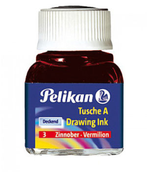 INCHIOSTRO DI CHINA 523 VERMIGLIONE 3 10ML PELIKAN