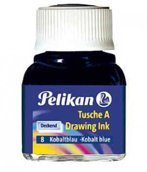 INCHIOSTRO DI CHINA 523 BLU COBALTO 8 10ML PELIKAN