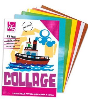 ALBUM COLLAGE CARTA LUCIDA RASATA 12FG 24X34CM CWR