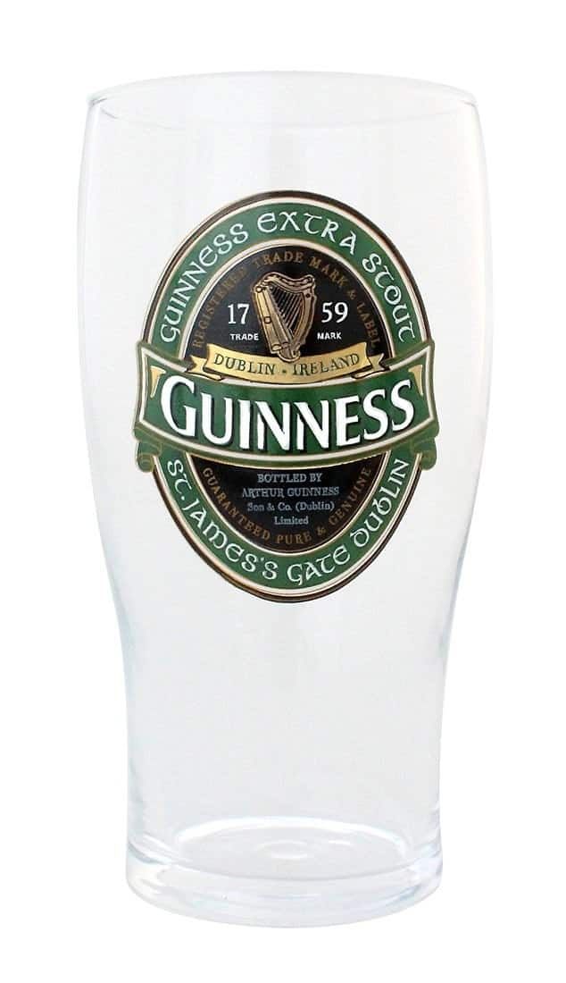 bicchiere guinness beer 1 pinta birra logo stampato dixyland